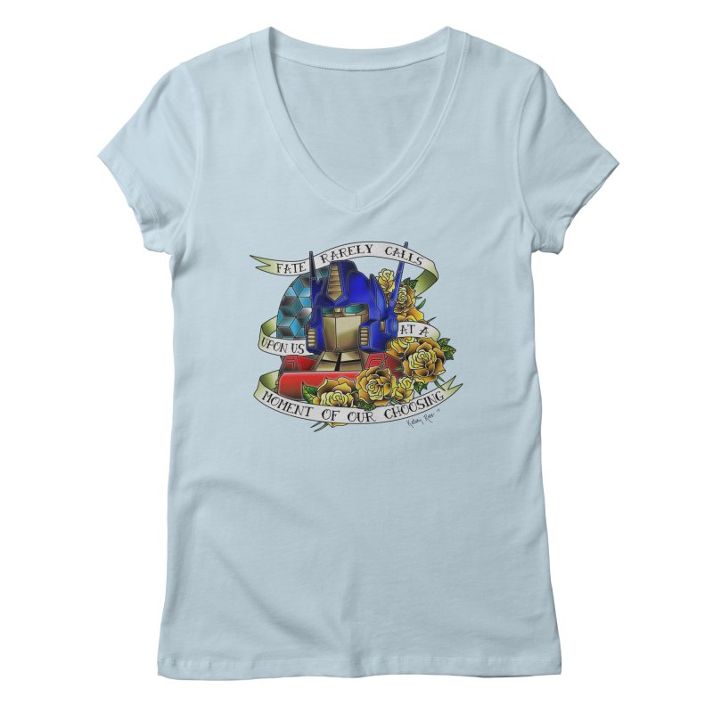 Robots in Disguise Women's V-Neck by sketchesbecrazy