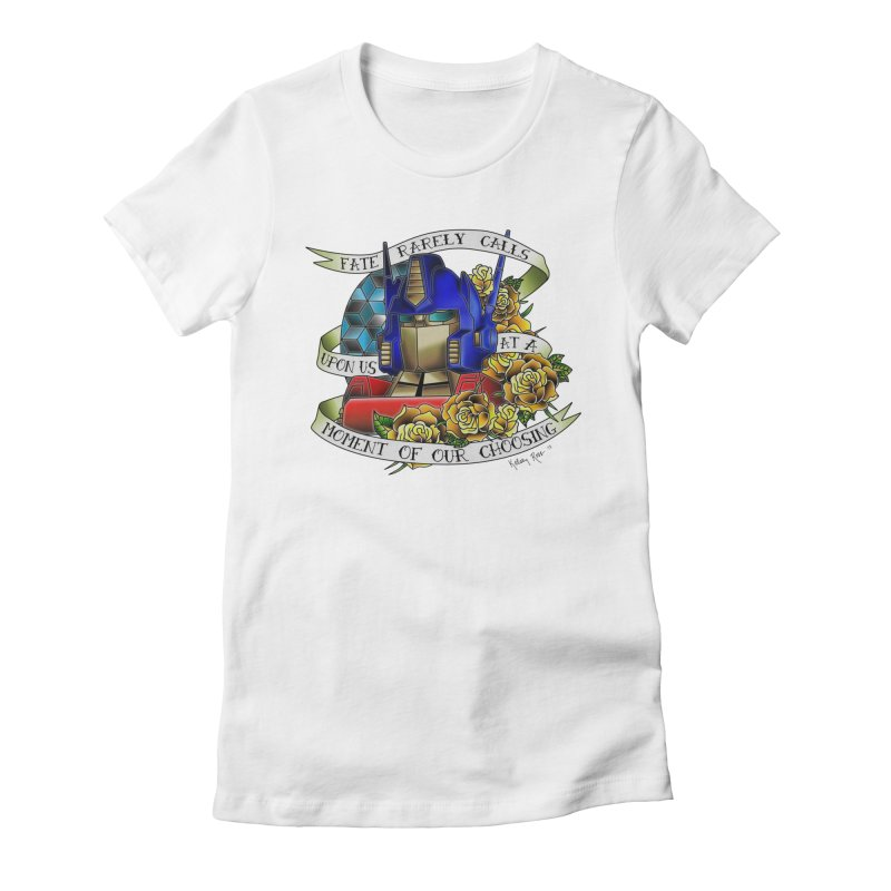 Robots in Disguise Women's Fitted T-Shirt by sketchesbecrazy
