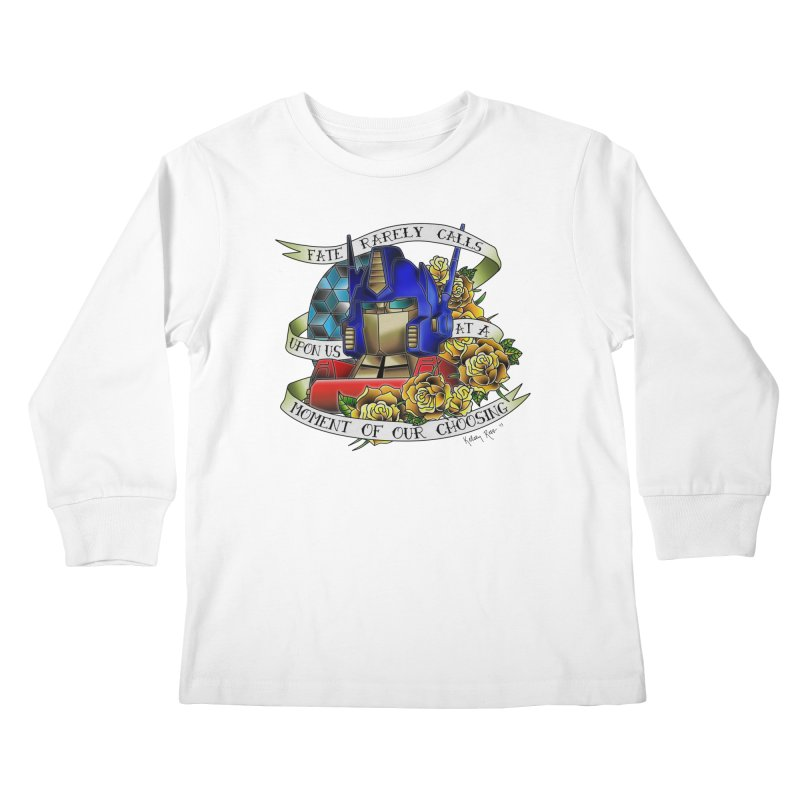 Robots in Disguise Kids Longsleeve T-Shirt by sketchesbecrazy
