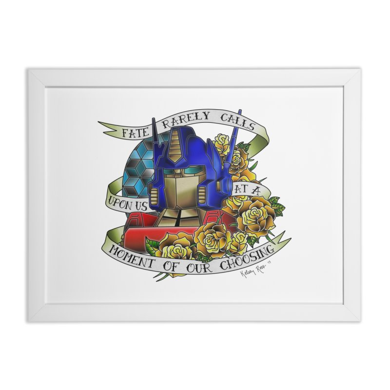 Robots in Disguise Home Framed Fine Art Print by sketchesbecrazy