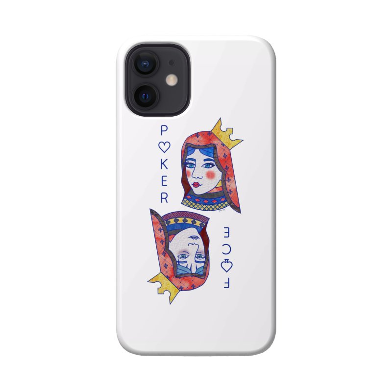 Poker Face Accessories Phone Case by sketchesbecrazy