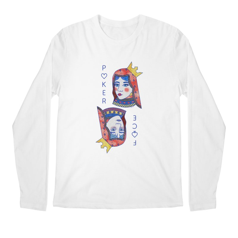 Poker Face Men's Longsleeve T-Shirt by sketchesbecrazy