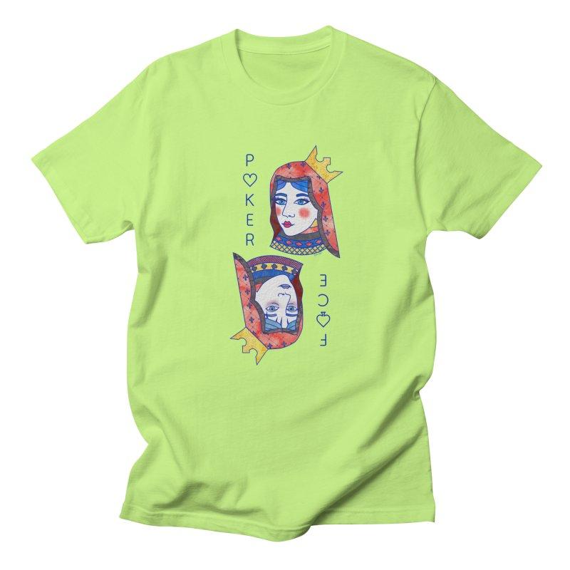 Poker Face Men's T-Shirt by sketchesbecrazy