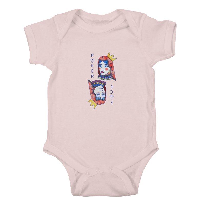 Poker Face Kids Baby Bodysuit by sketchesbecrazy