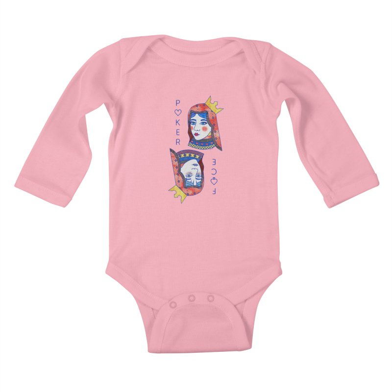 Poker Face Kids Baby Longsleeve Bodysuit by sketchesbecrazy