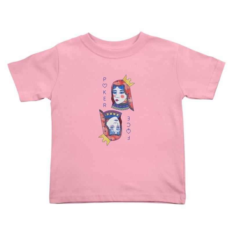 Poker Face Kids Toddler T-Shirt by sketchesbecrazy