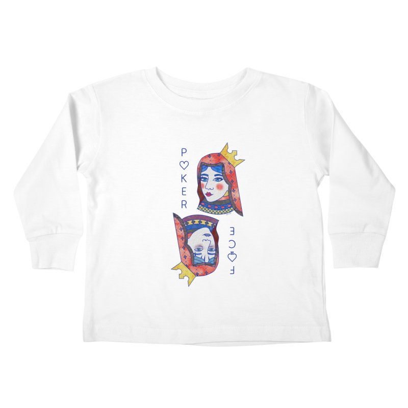 Poker Face Kids Toddler Longsleeve T-Shirt by sketchesbecrazy