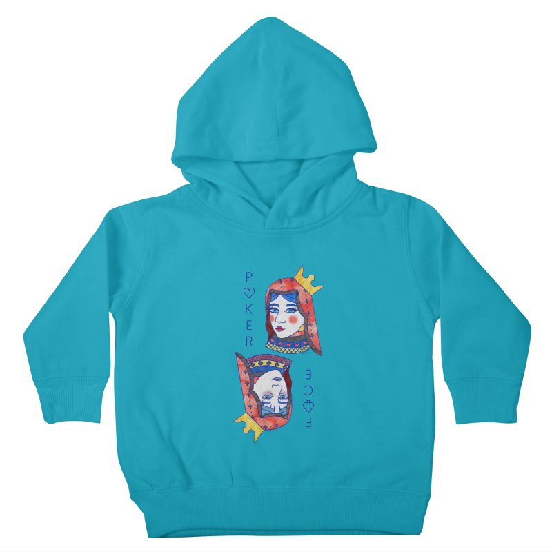 Poker Face Kids Toddler Pullover Hoody by sketchesbecrazy