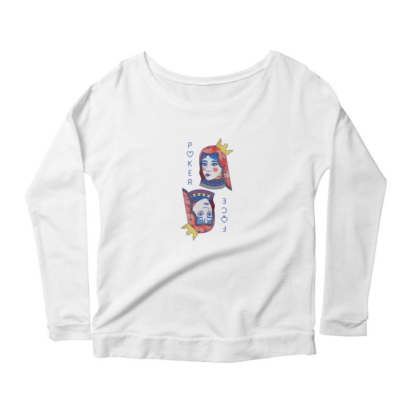 Poker Face Women's Longsleeve T-Shirt by sketchesbecrazy