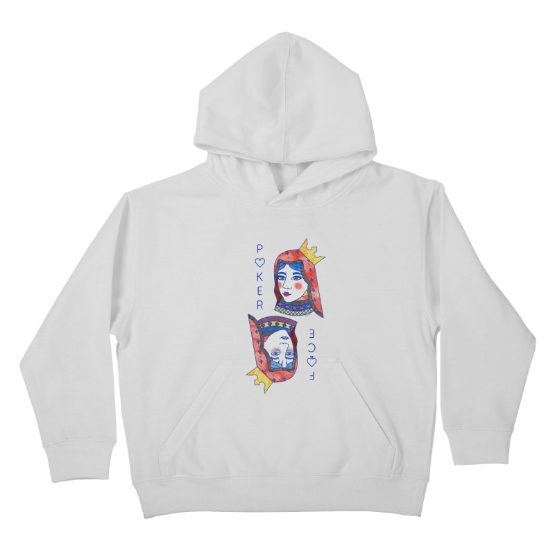 Poker Face Kids Pullover Hoody by sketchesbecrazy