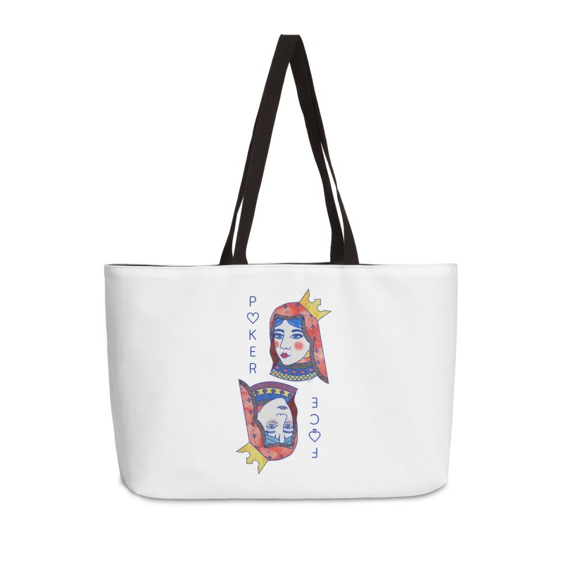 Poker Face Accessories Bag by sketchesbecrazy