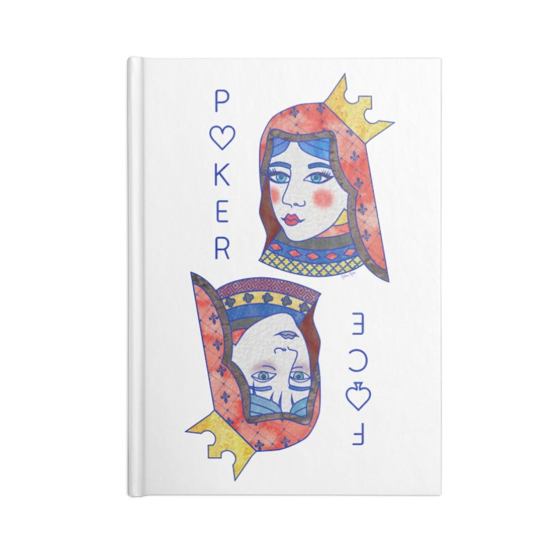 Poker Face Accessories Blank Journal Notebook by sketchesbecrazy