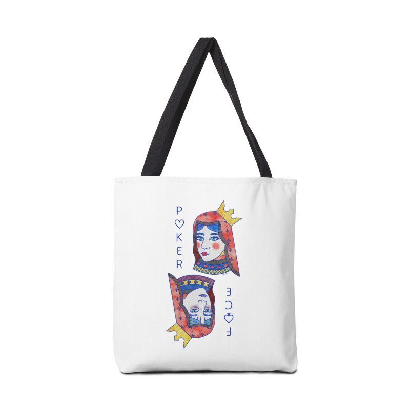 Poker Face Accessories Tote Bag Bag by sketchesbecrazy