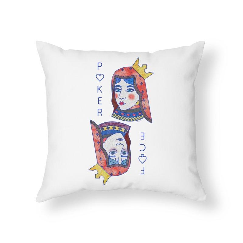 Poker Face Home Throw Pillow by sketchesbecrazy