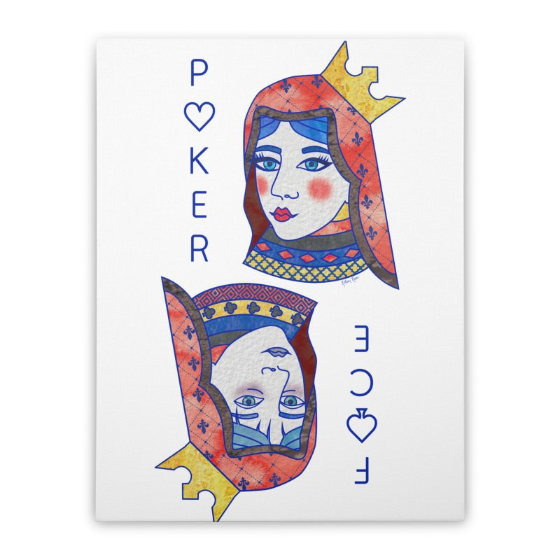 Poker Face Home Stretched Canvas by sketchesbecrazy