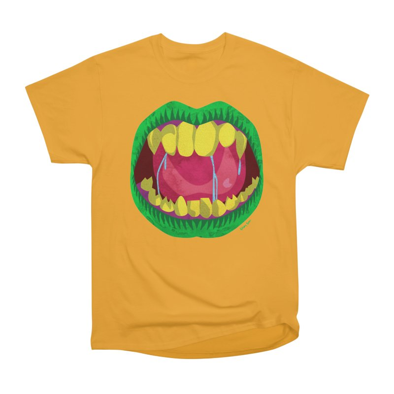Open Wide and Say AHHH! Men's Heavyweight T-Shirt by sketchesbecrazy