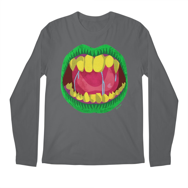Open Wide and Say AHHH! Men's Longsleeve T-Shirt by sketchesbecrazy