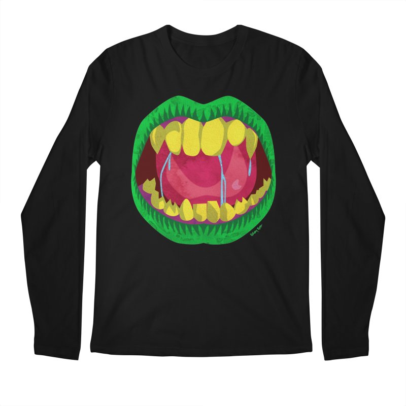 Open Wide and Say AHHH! Men's Regular Longsleeve T-Shirt by sketchesbecrazy