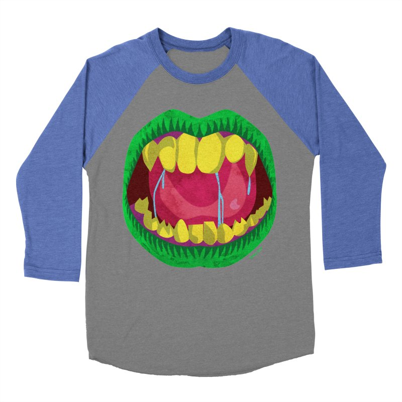 Open Wide and Say AHHH! Women's Baseball Triblend Longsleeve T-Shirt by sketchesbecrazy