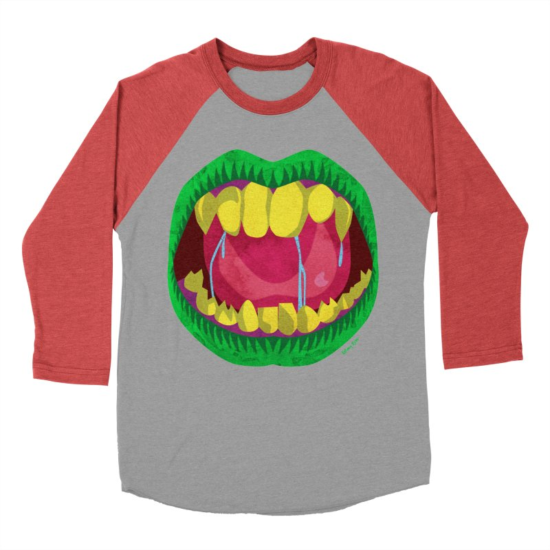 Open Wide and Say AHHH! Men's Baseball Triblend Longsleeve T-Shirt by sketchesbecrazy