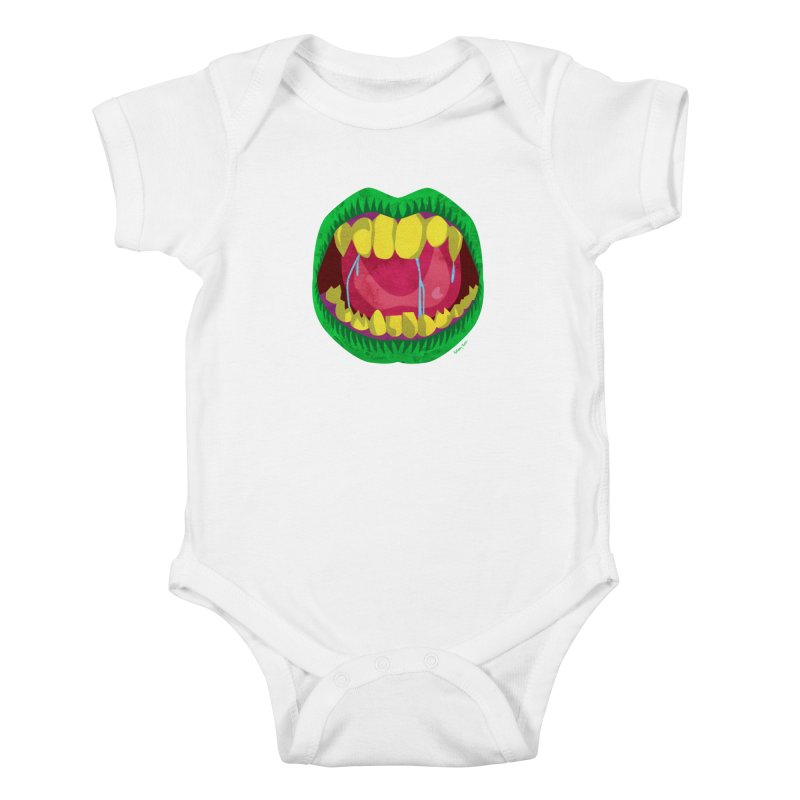 Open Wide and Say AHHH! Kids Baby Bodysuit by sketchesbecrazy