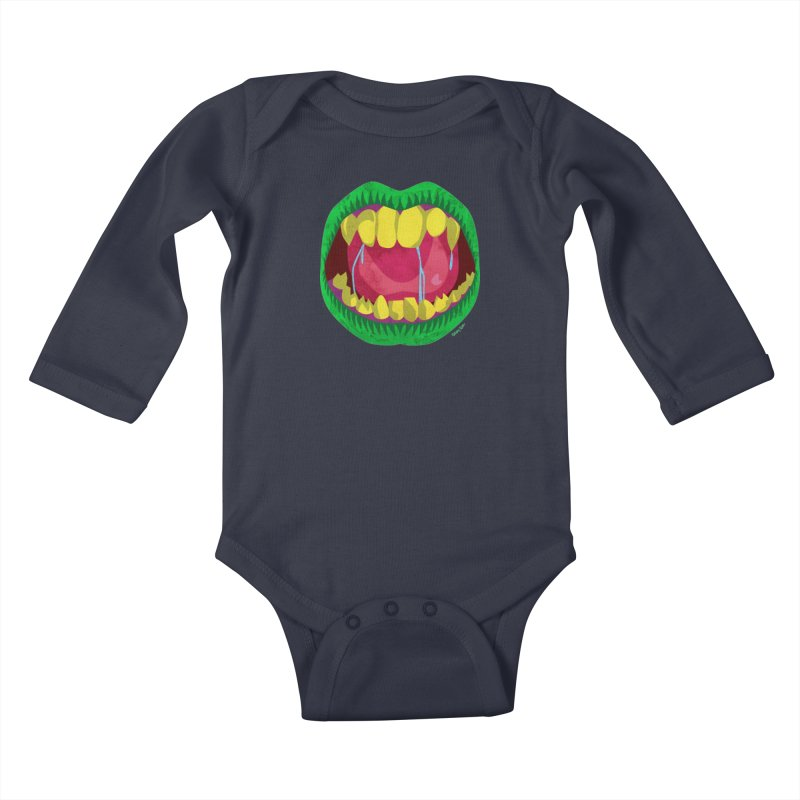 Open Wide and Say AHHH! Kids Baby Longsleeve Bodysuit by sketchesbecrazy