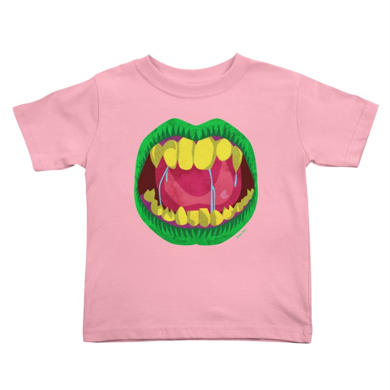 Open Wide and Say AHHH! Kids Toddler T-Shirt by sketchesbecrazy