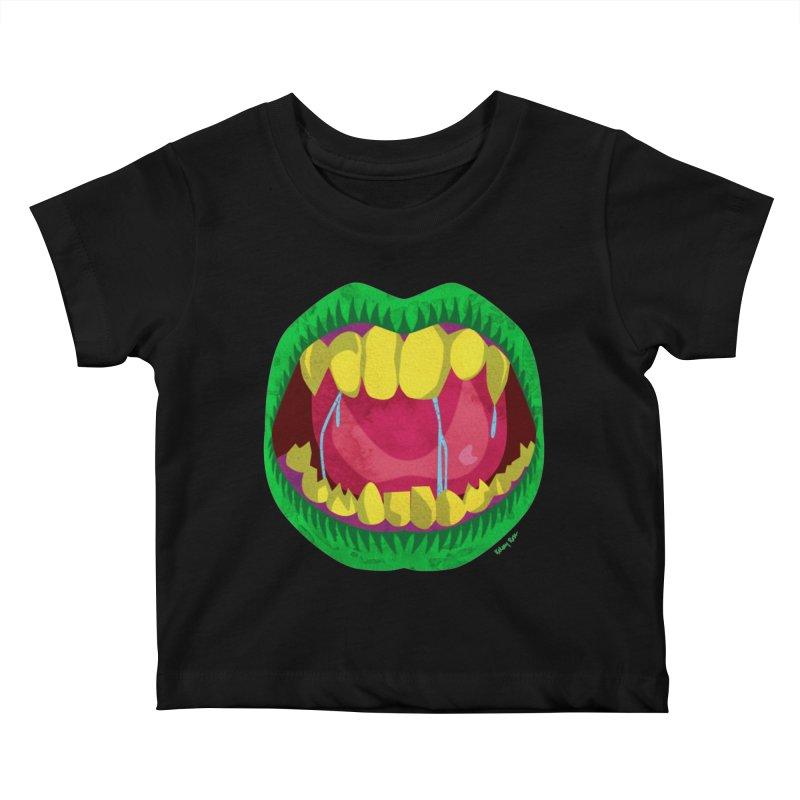 Open Wide and Say AHHH! Kids Baby T-Shirt by sketchesbecrazy