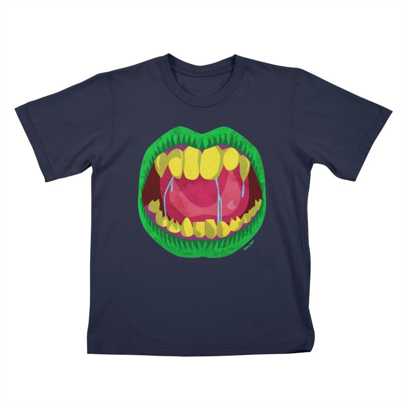 Open Wide and Say AHHH! Kids T-Shirt by sketchesbecrazy