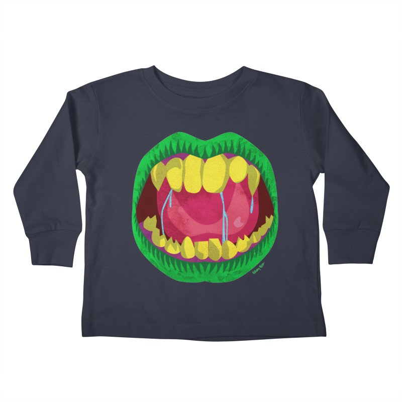 Open Wide and Say AHHH! Kids Toddler Longsleeve T-Shirt by sketchesbecrazy