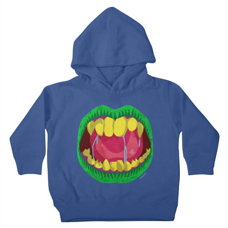 Open Wide and Say AHHH! Kids Toddler Pullover Hoody by sketchesbecrazy