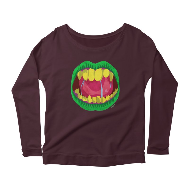Open Wide and Say AHHH! Women's Longsleeve T-Shirt by sketchesbecrazy