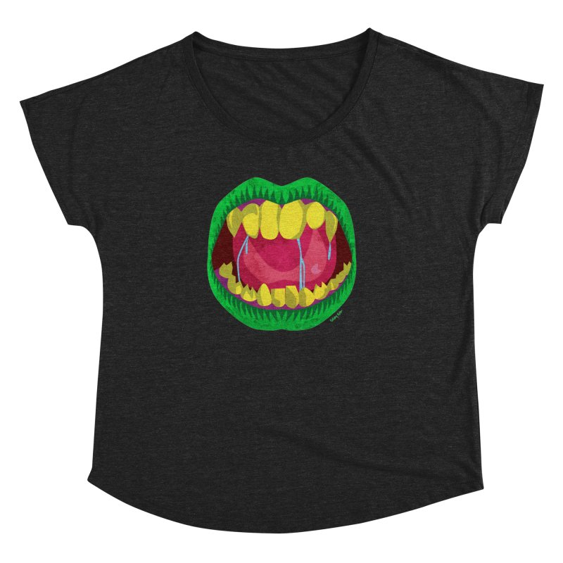 Open Wide and Say AHHH! Women's Dolman Scoop Neck by sketchesbecrazy