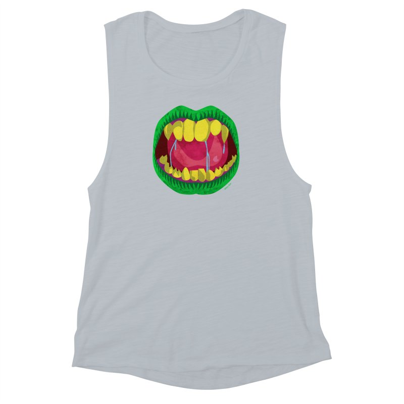 Open Wide and Say AHHH! Women's Muscle Tank by sketchesbecrazy