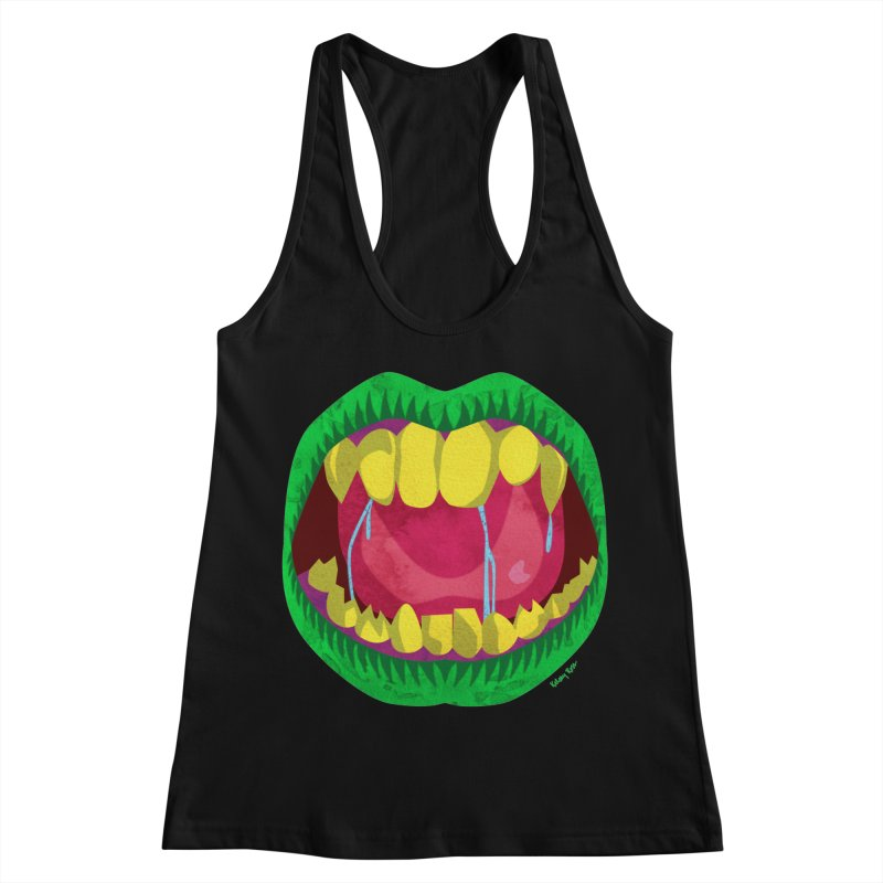 Open Wide and Say AHHH! Women's Racerback Tank by sketchesbecrazy