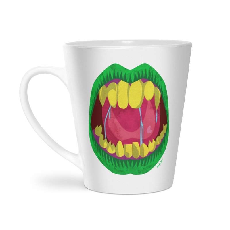 Open Wide and Say AHHH! Accessories Latte Mug by sketchesbecrazy