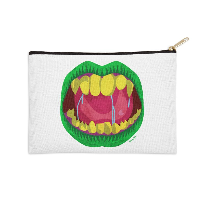 Open Wide and Say AHHH! Accessories Zip Pouch by sketchesbecrazy