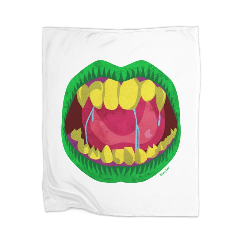Open Wide and Say AHHH! Home Blanket by sketchesbecrazy