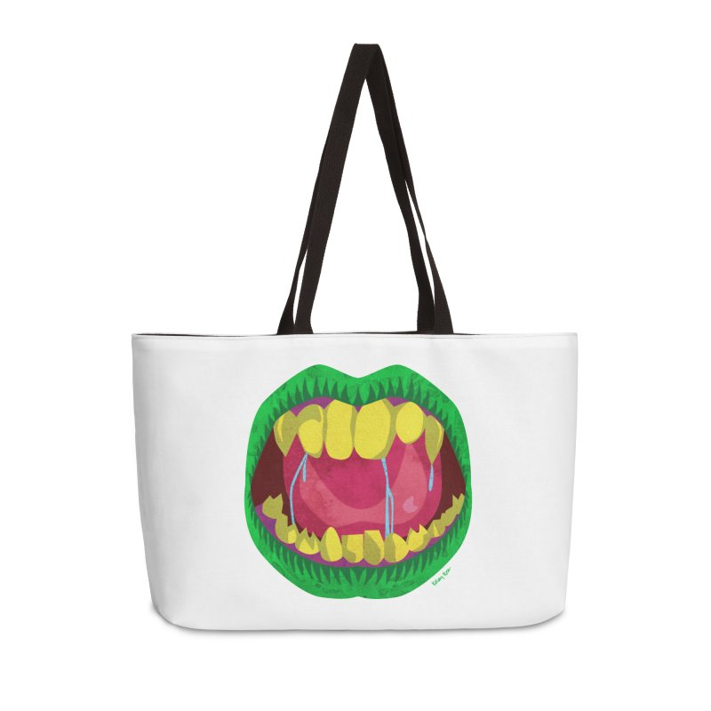 Open Wide and Say AHHH! Accessories Weekender Bag Bag by sketchesbecrazy