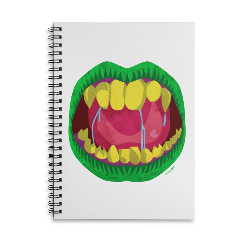 Open Wide and Say AHHH! Accessories Lined Spiral Notebook by sketchesbecrazy