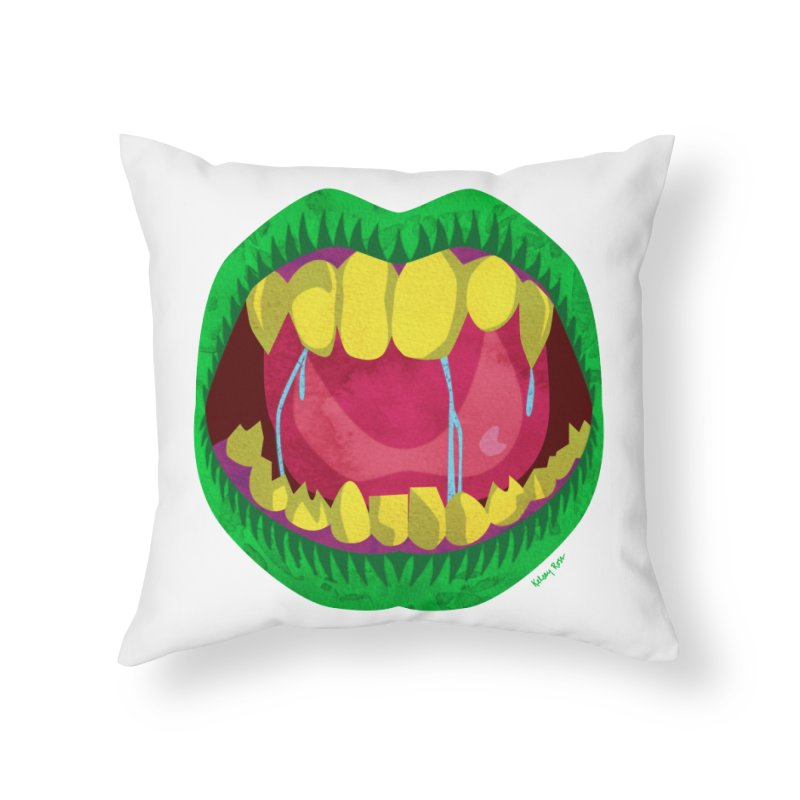 Open Wide and Say AHHH! Home Throw Pillow by sketchesbecrazy