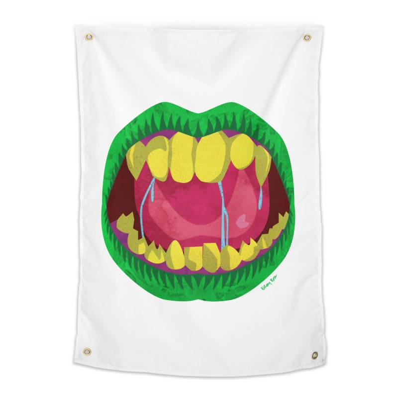Open Wide and Say AHHH! Home Tapestry by sketchesbecrazy