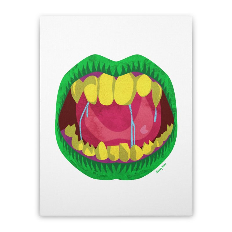 Open Wide and Say AHHH! Home Stretched Canvas by sketchesbecrazy