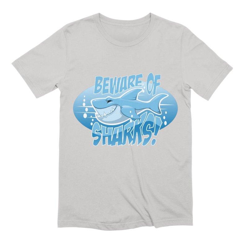Beware of Sharks Men's T-Shirt by sketchtodigital's Artist Shop