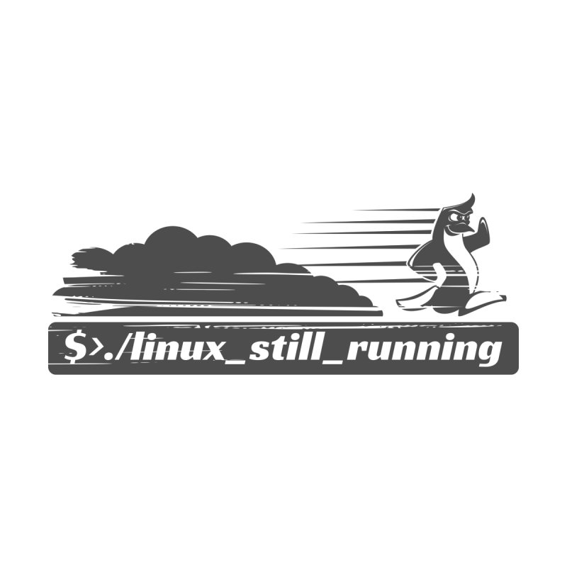 Linux Still Running - Linux Logo by sketchtodigital's Artist Shop