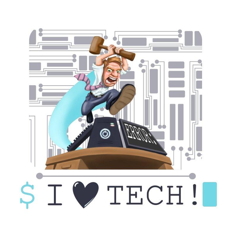 Man Smashing Computer - I Love Tech! by sketchtodigital's Artist Shop