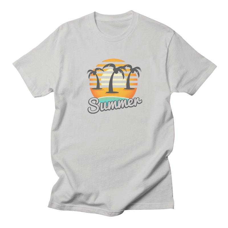 Summer Beach Men's T-Shirt by sketchtodigital's Artist Shop
