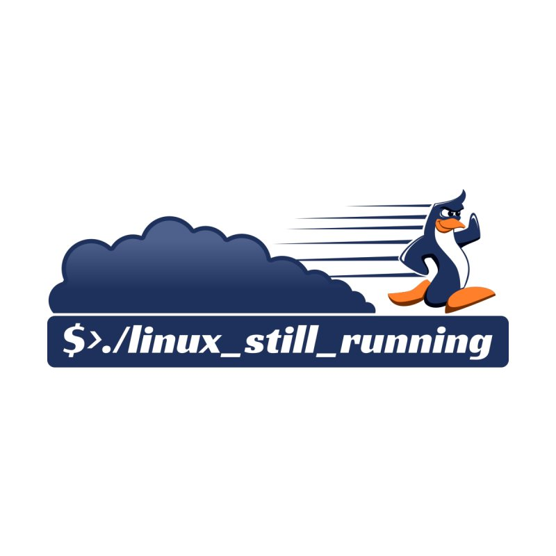 Linux Still Running - Fast Penguin by sketchtodigital's Artist Shop