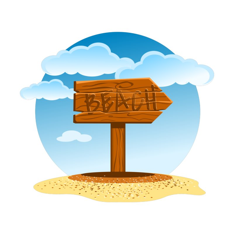 Beach Sign by sketchtodigital's Artist Shop