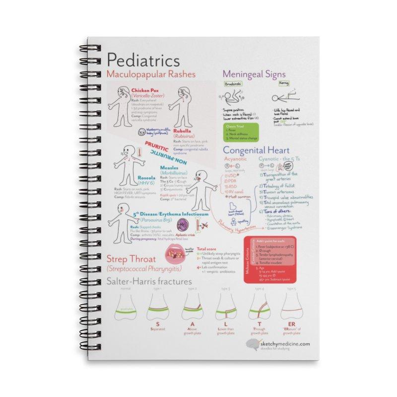 Pediatrics Sketchbook Accessories Lined Spiral Notebook by Sketchy Medicine Shop